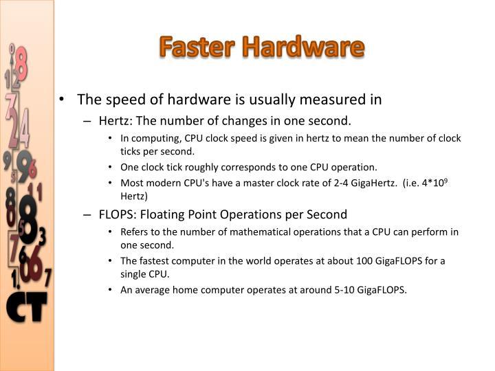 Faster Hardware