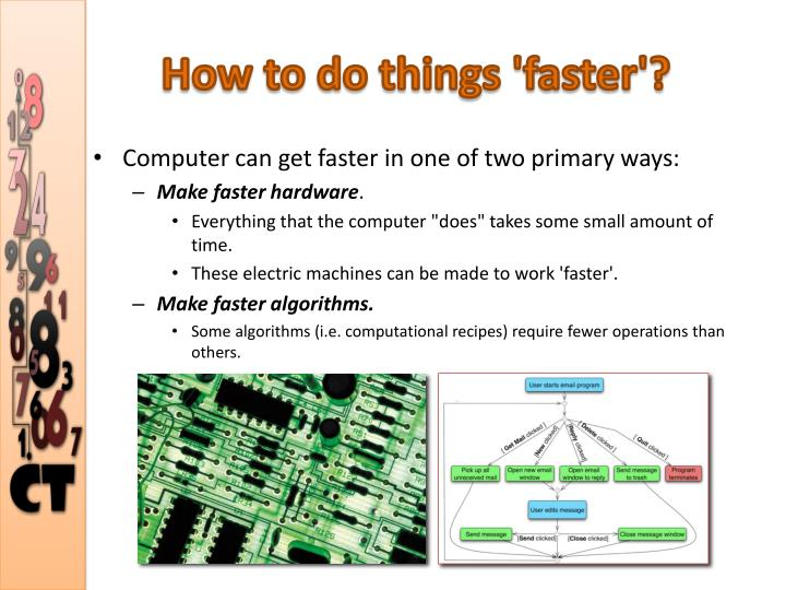 How to do things 'faster'?