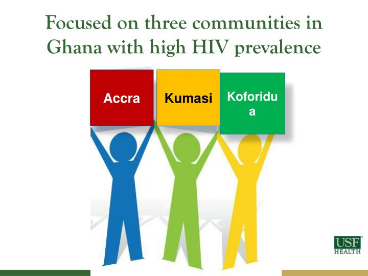 Focused on three communities in Ghana with high HIV prevalence