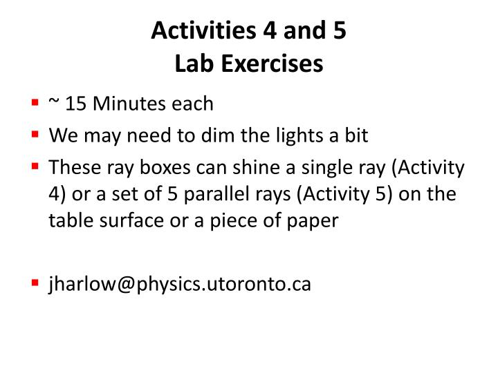 Activities 4 and 5