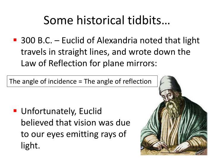 Some historical tidbits…