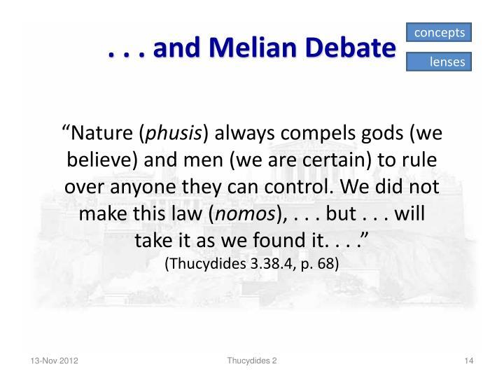 ... and Melian Debate