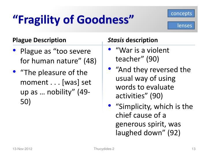 """Fragility of Goodness"""