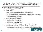 manual time error corrections mtec