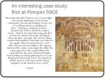 an interesting case study riot at pompeii 59ce