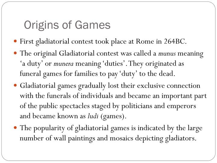 Origins of Games