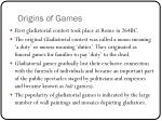 origins of games