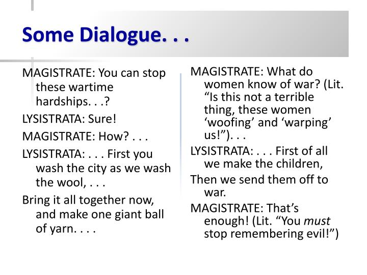 Some Dialogue...