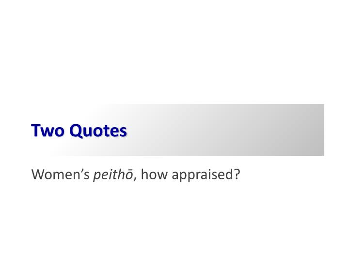 Two Quotes
