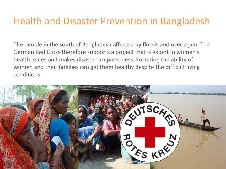Health and disaster prevention in bangladesh