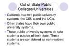 out of state public colleges universities
