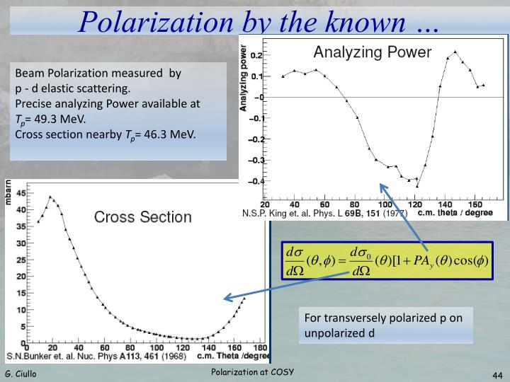Beam Polarization measured