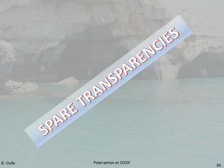SPARE TRANSPARENCIES