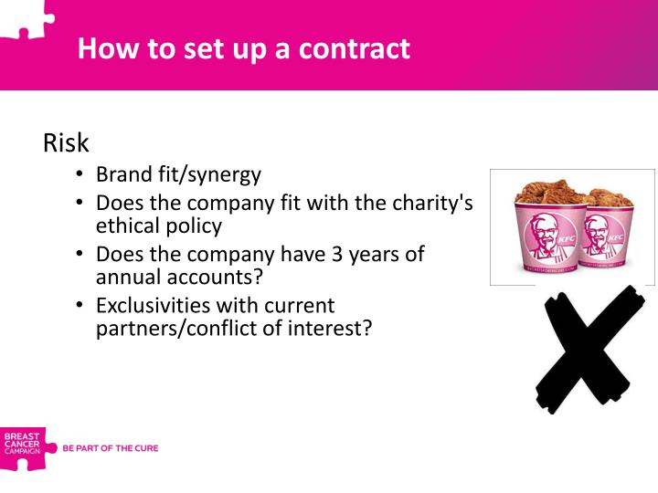 How to set up a contract
