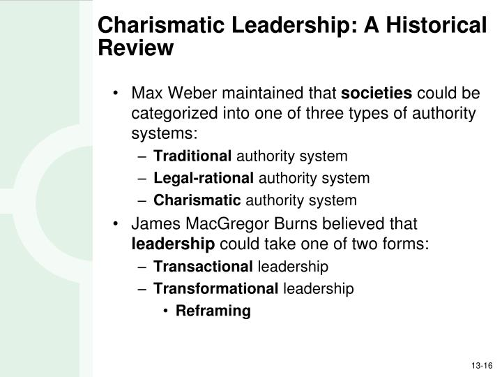 Charismatic Leadership: A Historical Review