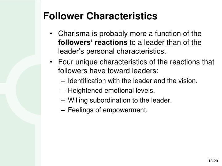 Follower Characteristics
