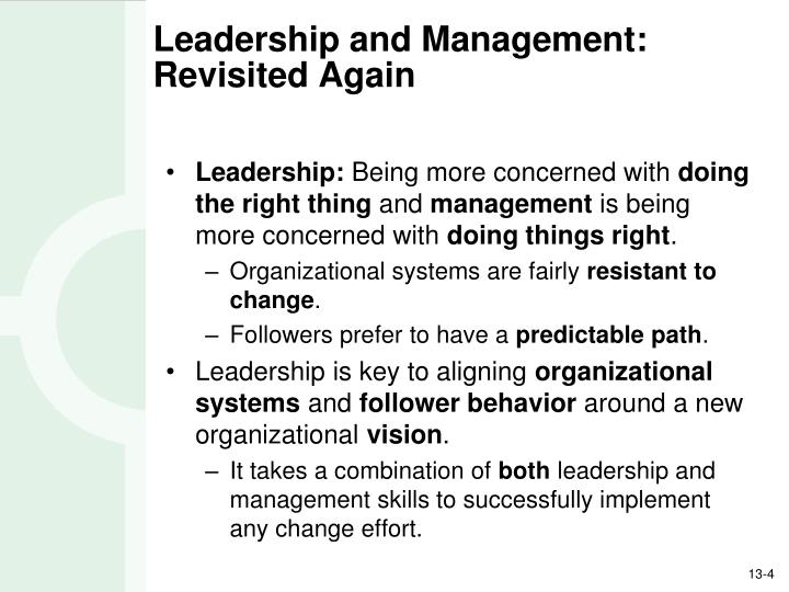Leadership and Management: Revisited Again