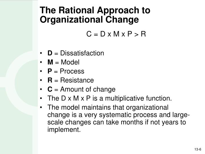 The Rational Approach to Organizational Change