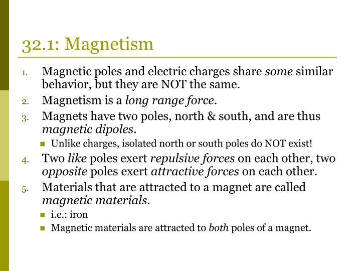 32.1: Magnetism