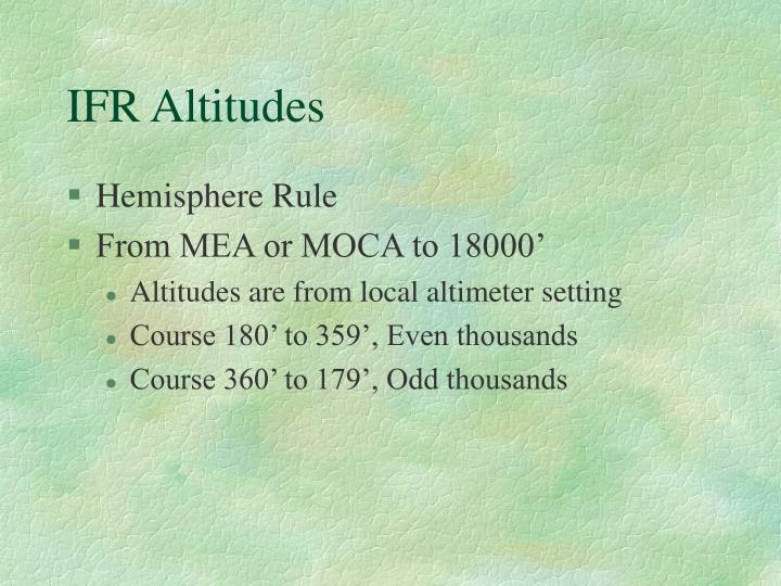 IFR Altitudes