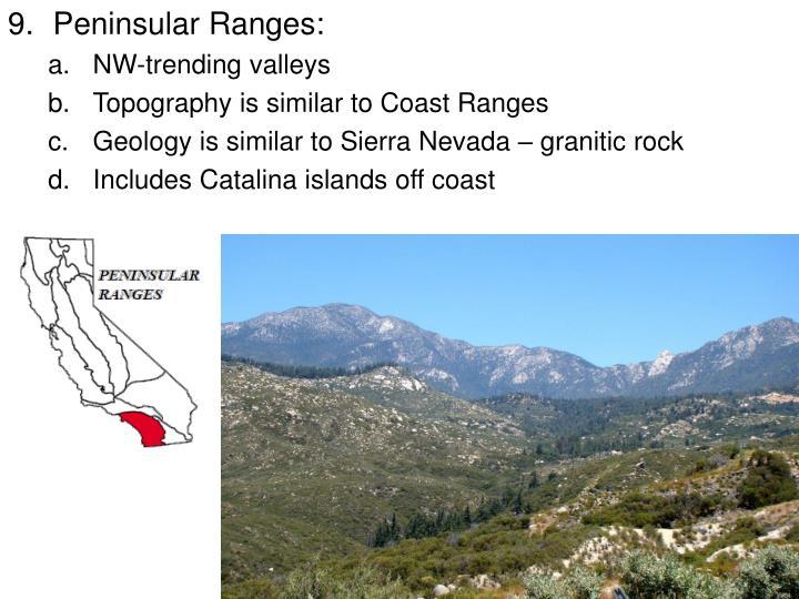 Peninsular Ranges: