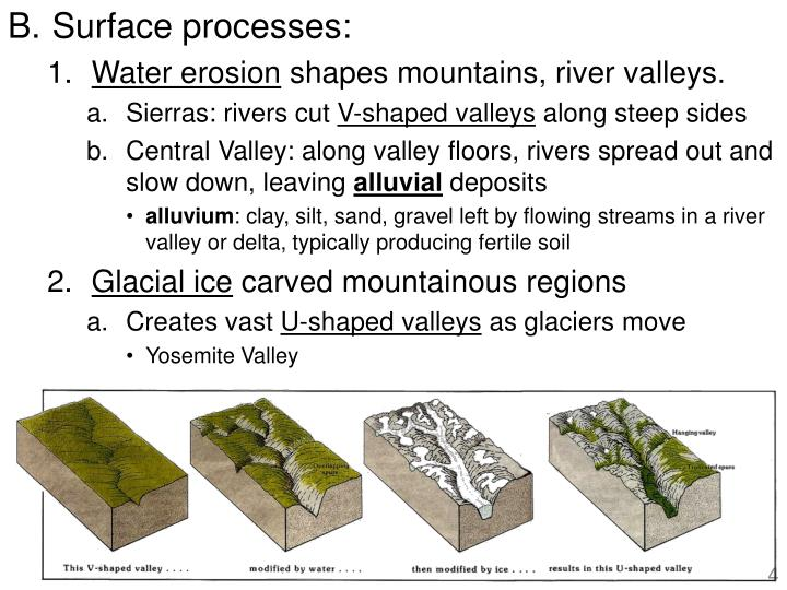 Surface processes: