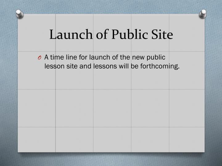 Launch of Public Site