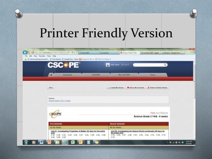 Printer Friendly Version