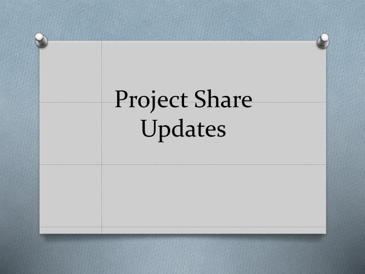 Project Share Updates