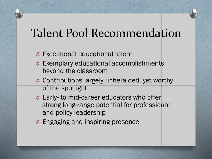 Talent Pool Recommendation