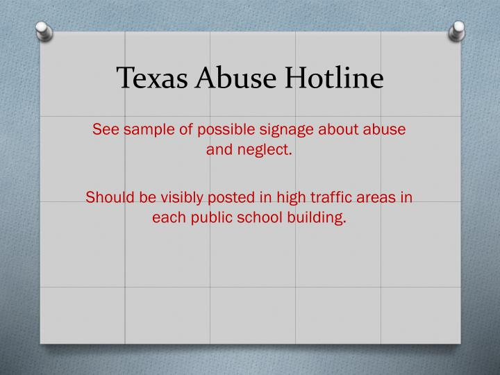 Texas Abuse Hotline