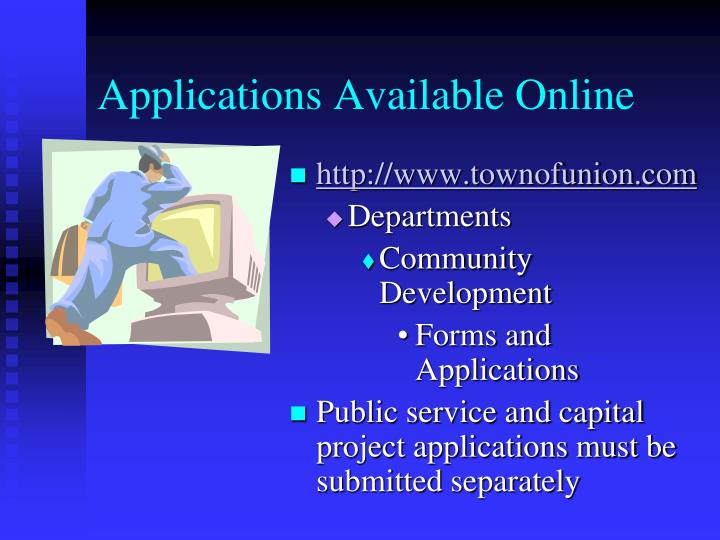 Applications Available Online