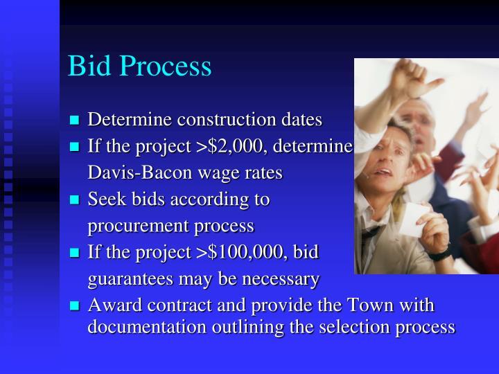 Bid Process