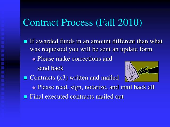 Contract Process (Fall 2010)