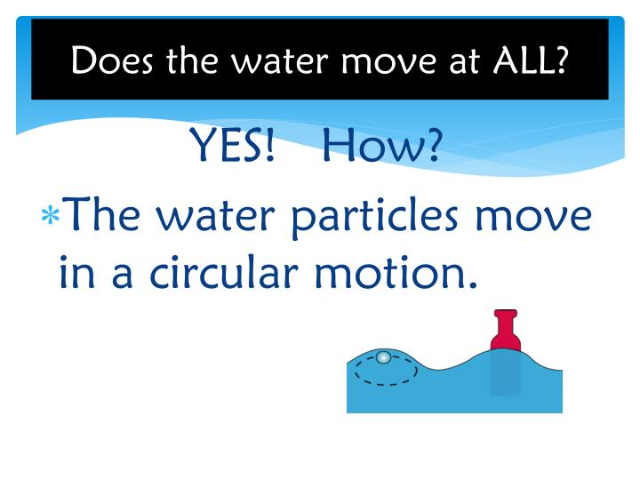Does the water move at ALL?