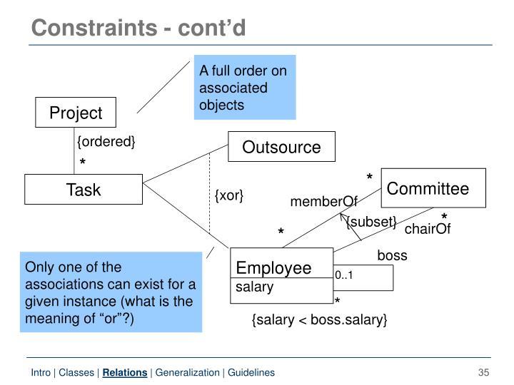 Constraints -