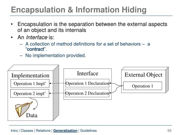 Encapsulation & Information Hiding