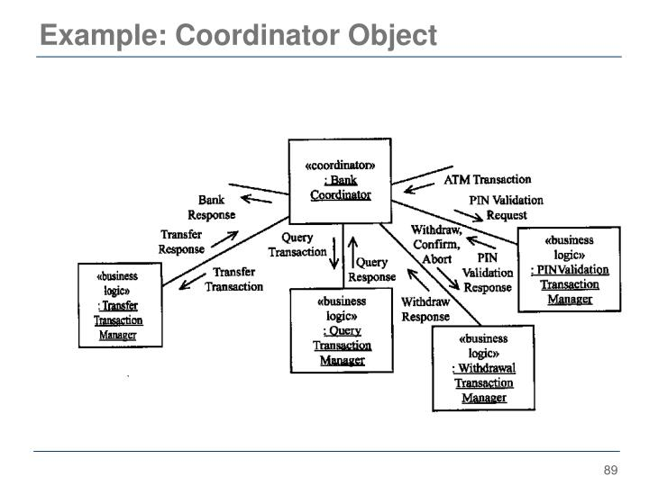 Example: Coordinator Object