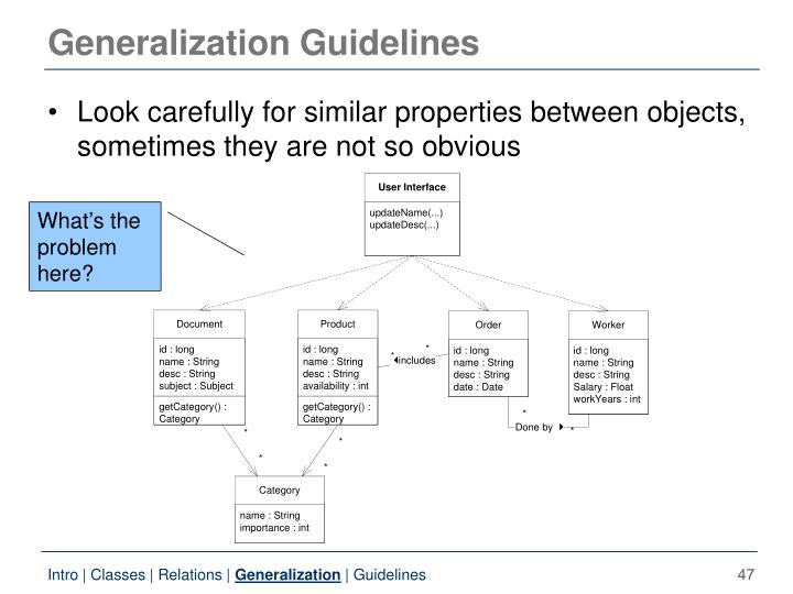 Generalization Guidelines