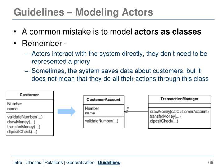 Guidelines – Modeling Actors