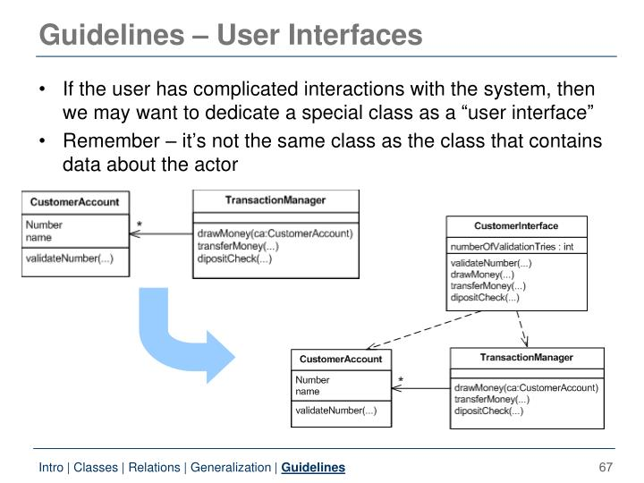 Guidelines – User Interfaces