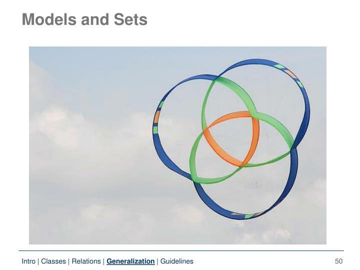 Models and Sets