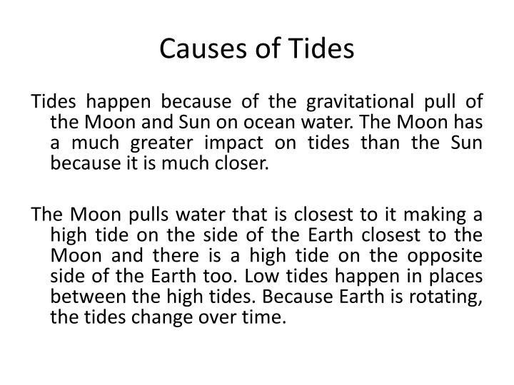 Causes of Tides
