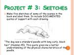 project 3 sketches