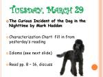 tuesday march 29