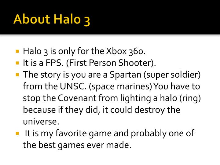 About Halo 3