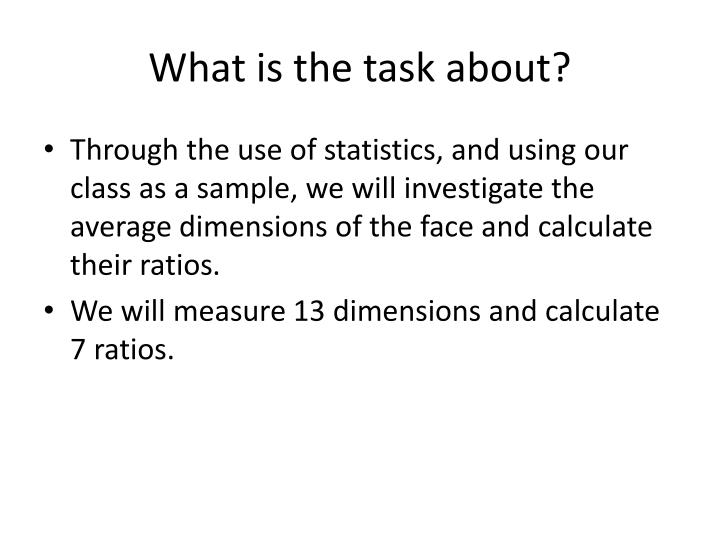 What is the task about?