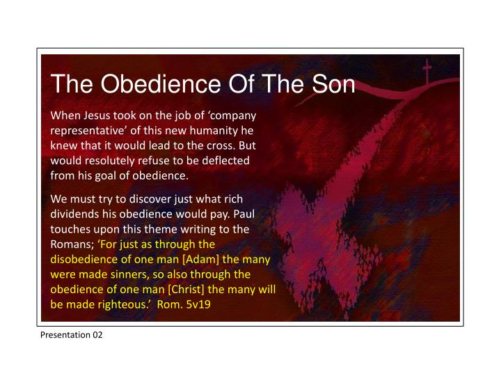 The Obedience Of The Son