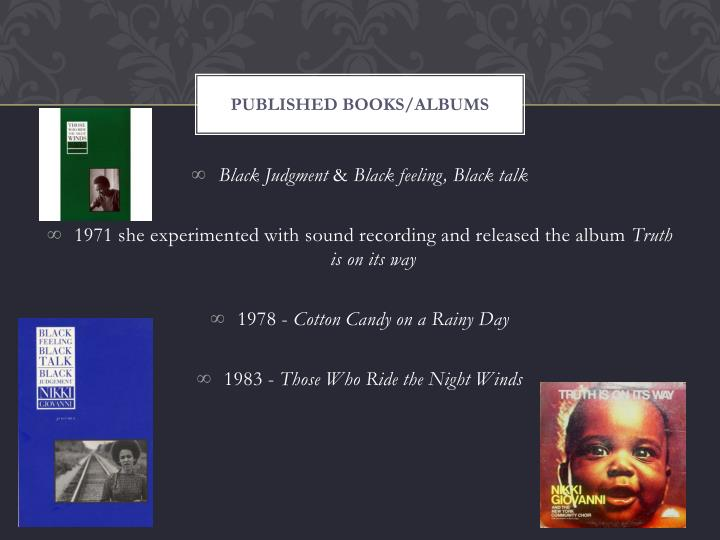 Published books/albums