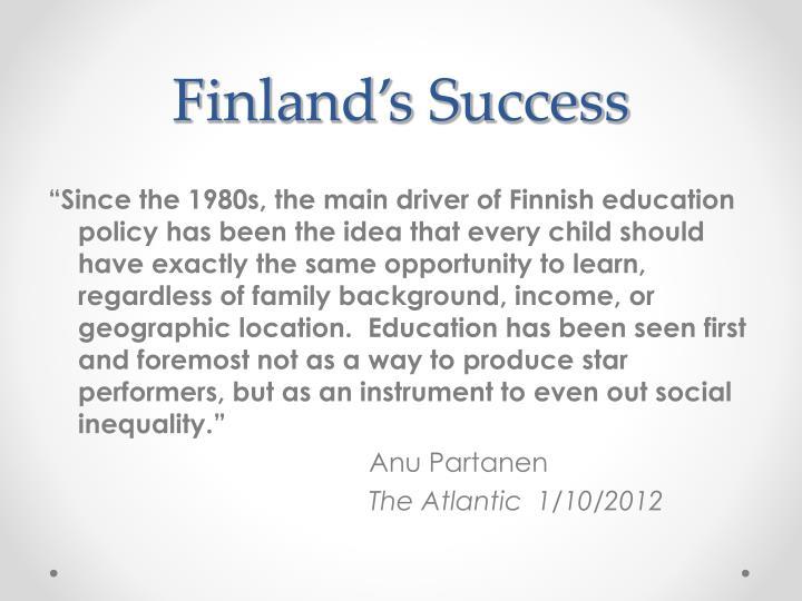 Finland's Success